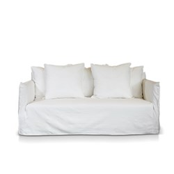 Como White 2.5 Seater Deep Sofa