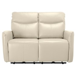 Presley Electric Recliner Cream 2 Seater Sofa