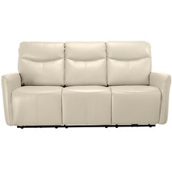 Presley Electric Recliner Cream 3 Seater Sofa