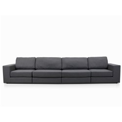 Elise Charcoal Grey 4 Seater Sofa