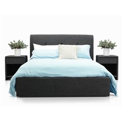 Terrigal Charcoal Double Bed