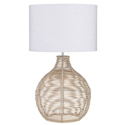 Douglas Table Lamp Natural & White  50cm