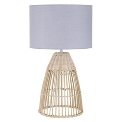 Forster Table Lamp Natural & Grey  50cm