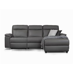 Bellagio Grey Electric Recliner Left Chaise