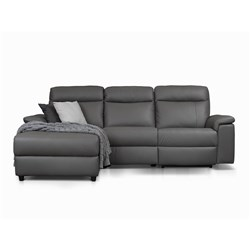 Bellagio Grey Electric Recliner Right Chaise