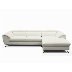 Milan White Left Chaise