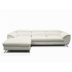 Milan White Right Chaise