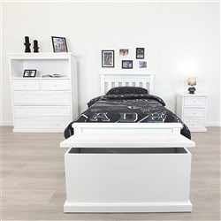 Rainbow White King Single Bed