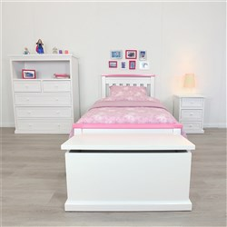Rainbow Pink & White King Single Bed