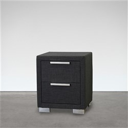 Citi Charcoal Bedside Table