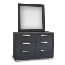 Citi Charcoal Dressing Table & Mirror