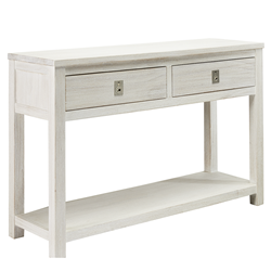 Florida Brushed White Hall Table
