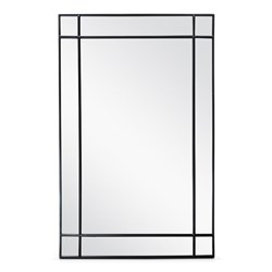 Boulogne Black 140cm x 90cm Wall Mirror