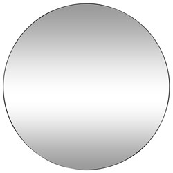 Minim Black 120cm Round Wall Mirror