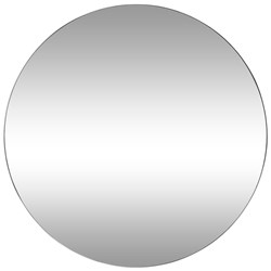 Minim White 120cm Round Wall Mirror