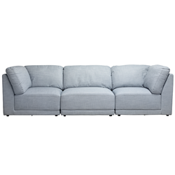Amelia Blue Haze 3 Piece Sofa