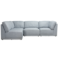 Amelia Blue Haze 4 Piece Sofa