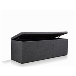 Milton Charcoal Blanket Box