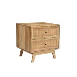 Tulum 2Dwr Bedside Table
