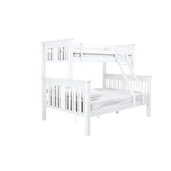 Bailey White Single Double Bunk