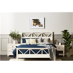 Florida Brushed White King Bed