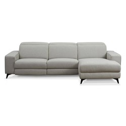 Valentina Light Grey 3 Seater Left Chaise