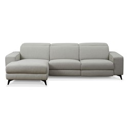 Valentina Light Grey 3 Seater Right Chaise