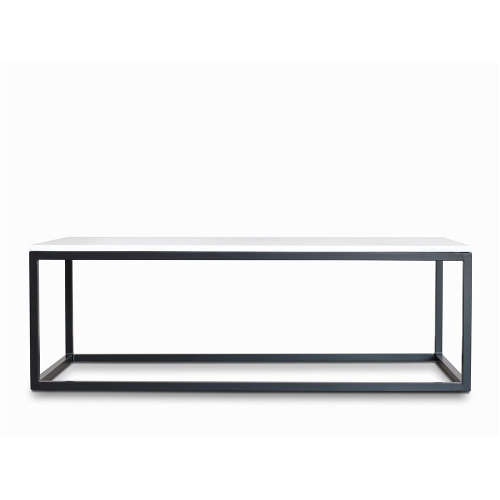 Verona Marble Coffee Table: Byron Coffee Table Black With White Faux Marble