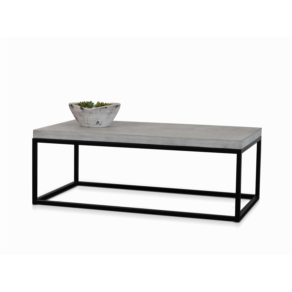 Byron Coffee Table Black With Polished Concrete James Lane