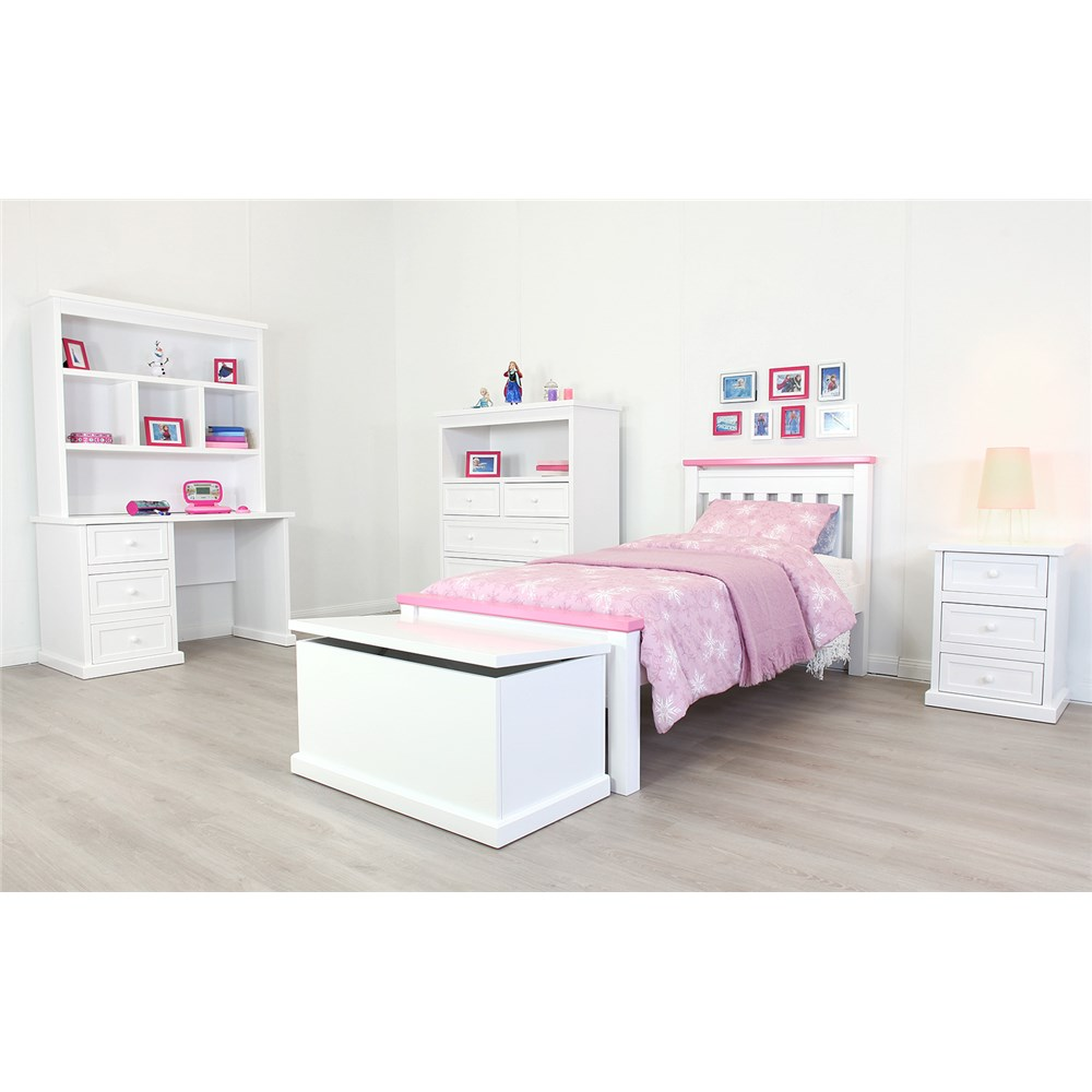 Rainbow Pink Single Bed | James Lane Kids Beds Online -
