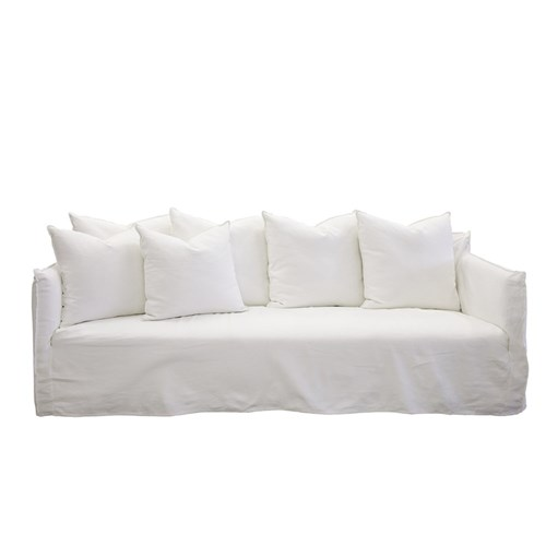 Admirable Como White 3 Seater Deep Sofa Caraccident5 Cool Chair Designs And Ideas Caraccident5Info