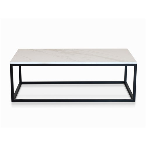 Como Marble Coffee Table: Byron Coffee Table Black With White Faux Marble