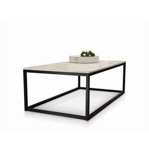 White Marble Coffee Table.Byron White Marble Coffee Table