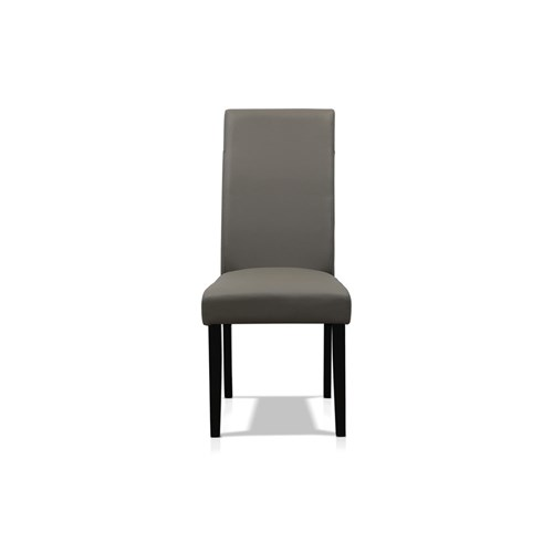 new style 740b7 6c21b Kingston Grey Leather Dining Chair