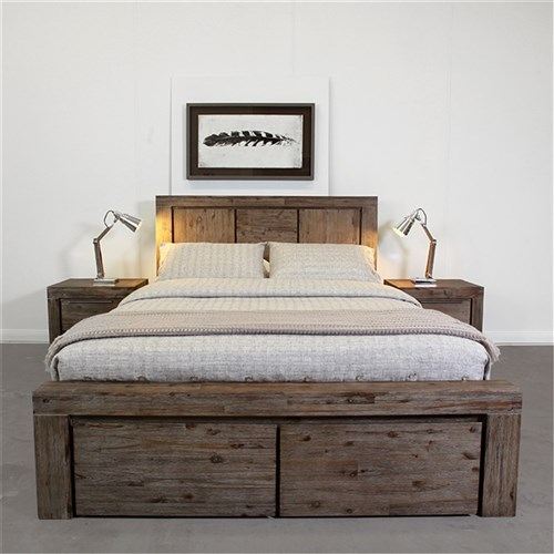 Cube Queen Bed With Drawers | James Lane Beds Online -